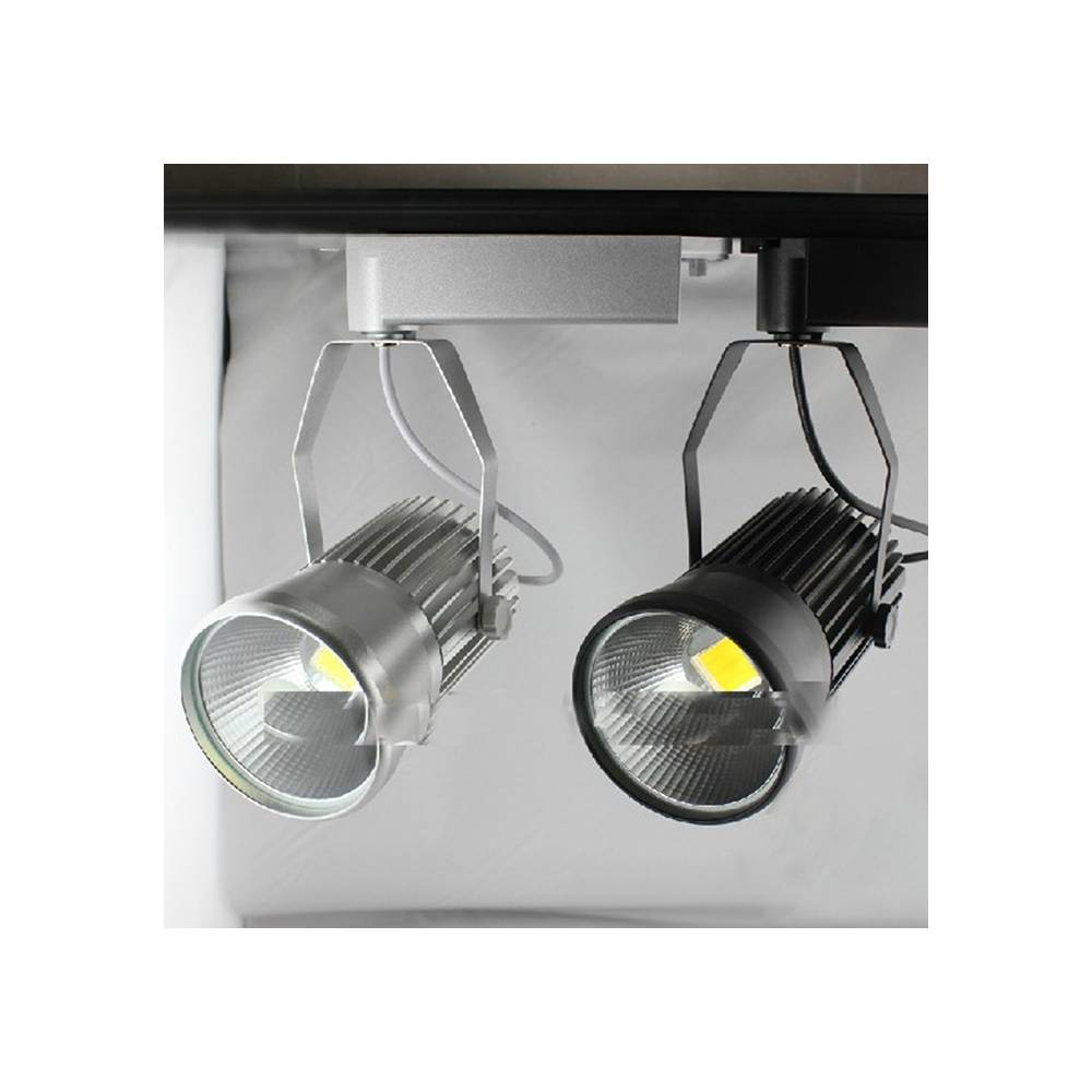 Proyector led carril monof sico 20w for Focos led para terrazas